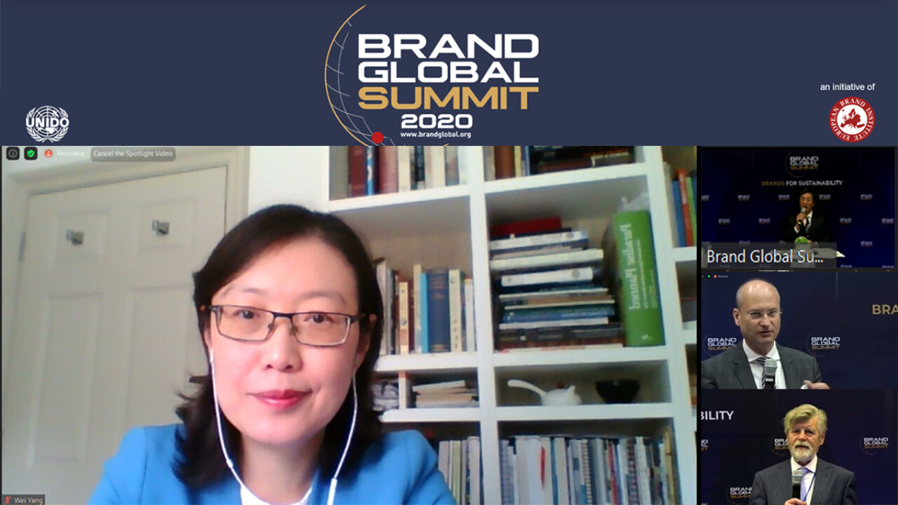 Dr Wei Yang spoke at the 16th Brand Global Summit – Brands for Sustainability