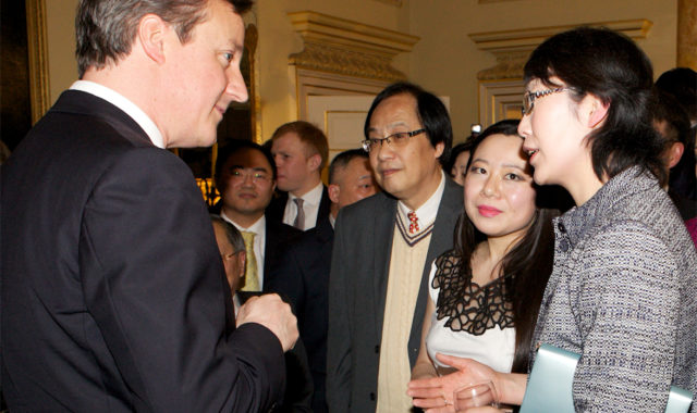 Image of Dr Wei Yang was invited to 10 Downing Street to attend the UK Prime Minister's 2014 Chinese New Year Reception