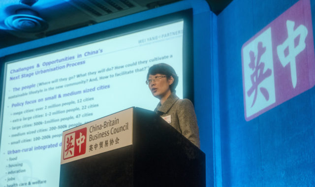 Image of Dr Wei Yang was invited to speak at the China-Britain Business Council's (CBBC's) Annual Conference in London