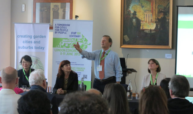 Image of Dr Wei Yang gave speech on 21st Century Garden Cities at IFHP Centenary Congress in London