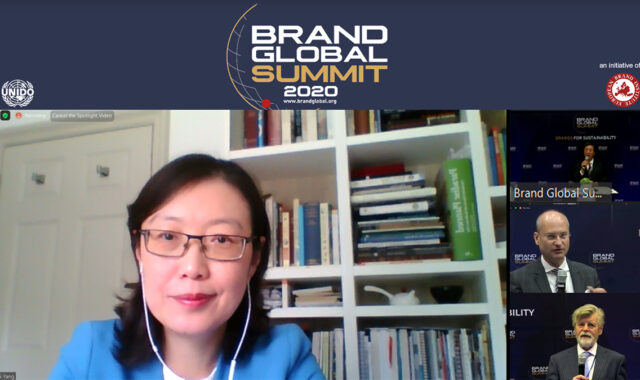 Image of Dr Wei Yang spoke at the 16th Brand Global Summit – Brands for Sustainability