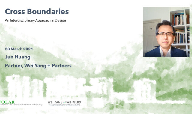 Image of Jun Huang speaks at FLOAR Spring Talk about the interdisciplinary approach in design