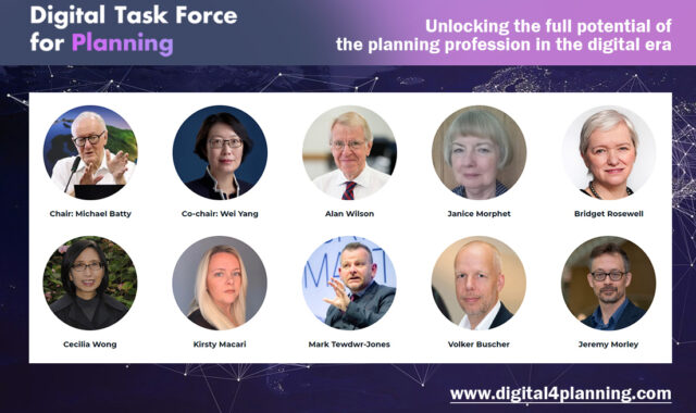 Image of Dr Wei Yang co-chairs Digital Task Force for Planning with Professor Michael Batty