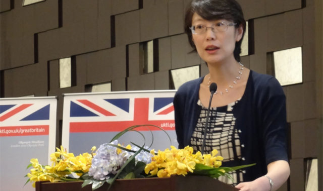 Image of Dr Wei Yang speaks at the 4th UK Architecture Forum - Green is Gold in Guangzhou