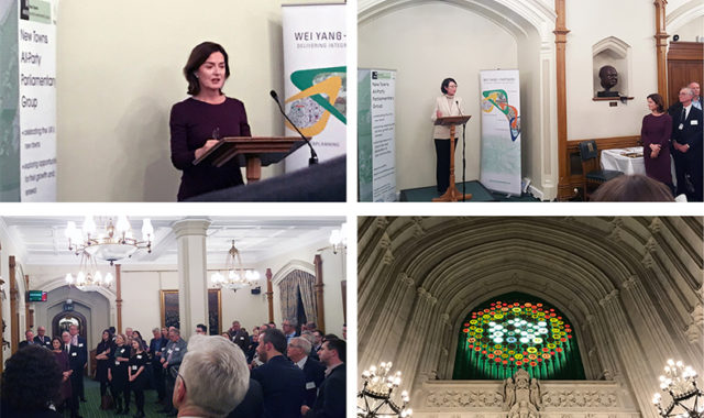Image of Dr Wei Yang spoke at the Parliamentary Reception of the All Party Parliamentary Group (APPG) on New Towns