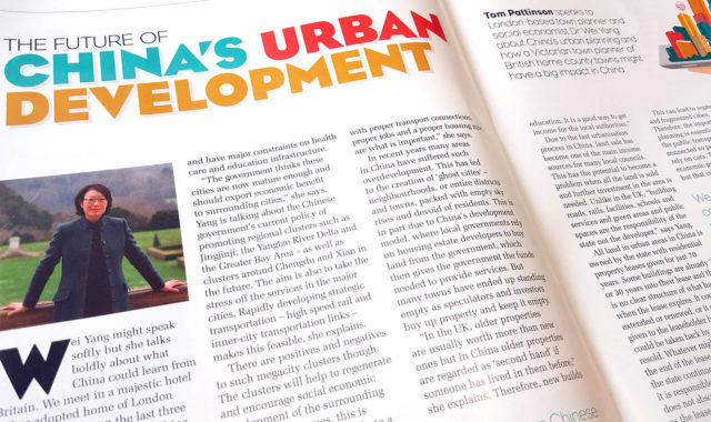 Image of Dr Wei Yang's interview features in FOCUS magazine